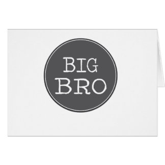 Personalized Boys Big Brother Gifts Card