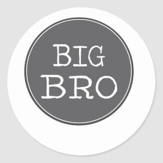 Personalized Boys Big Brother Gifts Classic Round Sticker