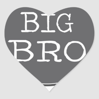Personalized Boys Big Brother Gifts Heart Sticker