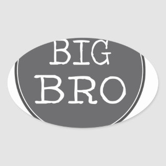 Personalized Boys Big Brother Gifts Oval Sticker