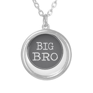 Personalized Boys Big Brother Gifts Round Pendant Necklace