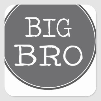 Personalized Boys Big Brother Gifts Square Sticker