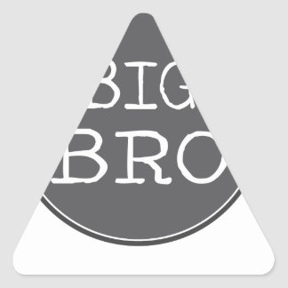 Personalized Boys Big Brother Gifts Triangle Sticker