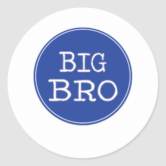 Personalized Boys Big Brother Shirts Classic Round Sticker