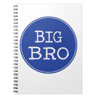 Personalized Boys Big Brother Shirts Spiral Notebook
