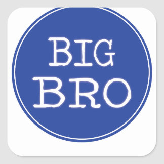 Personalized Boys Big Brother Shirts Square Sticker