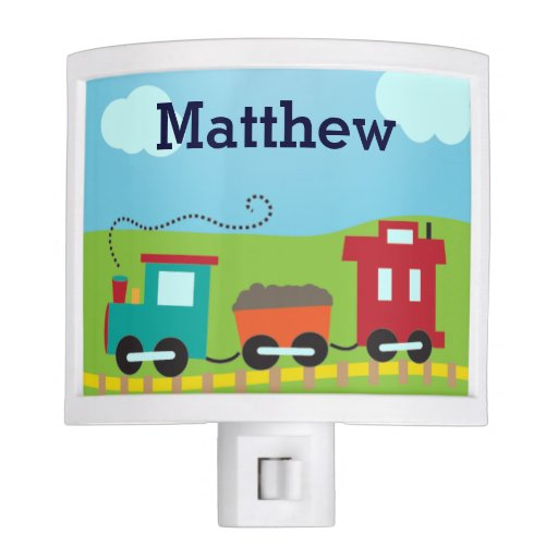 Personalized Boys Choo Choo Train Night Light Zazzle