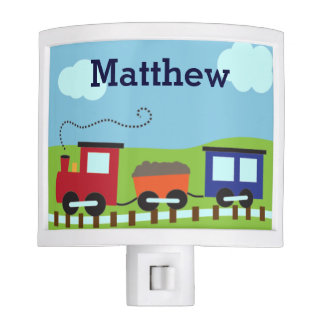Personalized Boys Choo Choo Train Night Light