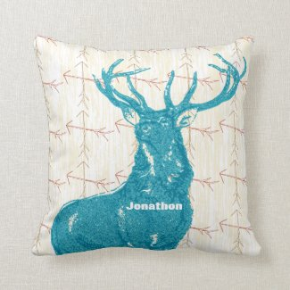Personalized Boy's Room Crossed Arrow Deer Throw Pillows