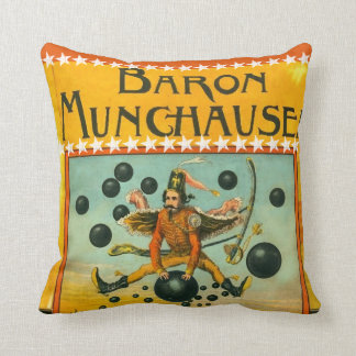 Personalized Boy's Room Flying Circus Man Throw Pillow