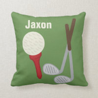 Personalized Boys Room Nursery Golf Throw Pillow