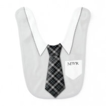 Personalized Boy's Suit Tie Funny Cute Baby Bib