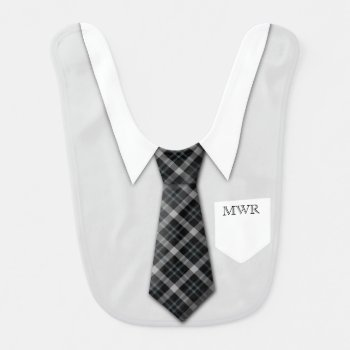 Personalized Boy's Suit Tie Funny Cute Baby Bib by cutencomfy at Zazzle