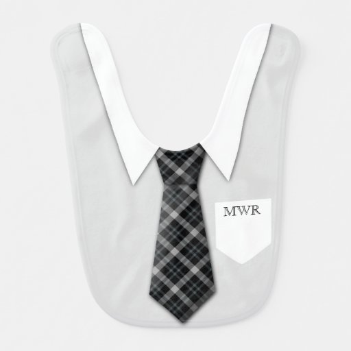 Personalized Boy's Suit Tie Funny Cute Baby Bibs