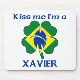 Personalized Brazilian Kiss Me I'm Xavier Mouse Pad