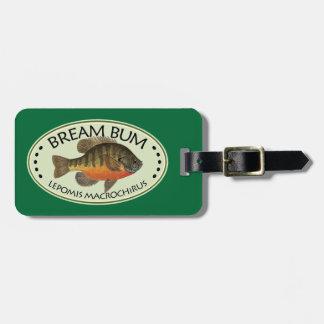 Personalized Bream Fishing Travel Bag Tag