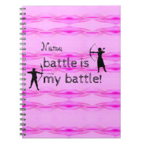 Personalized Breast Cancer Awareness Notebook