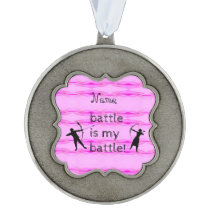 Personalized Breast Cancer Encouragement Ornament