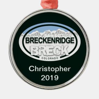Personalized Breckenridge Colorado Tag Ornament