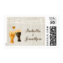 Personalized Brewery Wedding - Rustic Beer Toast Postage