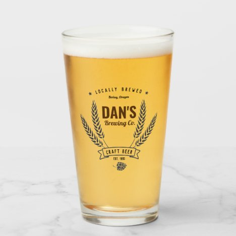 Personalized Brewing Company Beer Glass