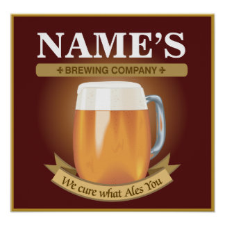 Personalized Brewing Company Poster