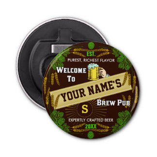 Personalized Brewpub Welcome: Hops Barley Beer