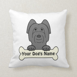 Personalized Briard Pillow
