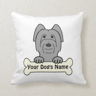 Personalized Briard Throw Pillow