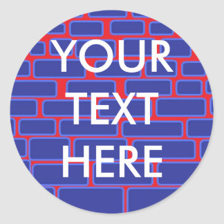 PERSONALIZED BRICK WALL CLASSIC ROUND STICKER
