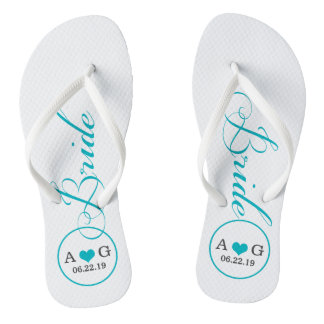 Personalized Bridal (blue) Flip Flops