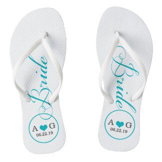 Personalized Bridal (blue) Flip Flops