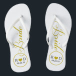 "Personalized Bridal (gold) Flip Flops<br><div class=""desc"">Fun,  custom wedding flip flops</div>"