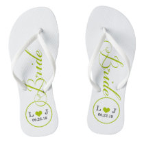 Personalized Bridal (green) Flip Flops