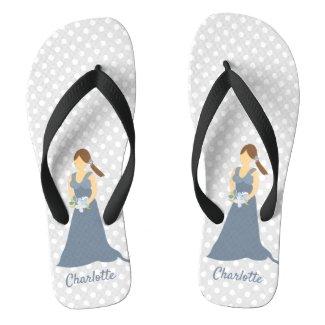 Personalized Bridal Party Bridesmaid Flip Flops