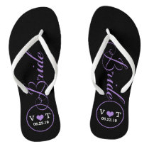 Personalized Bridal (purple) Flip Flops