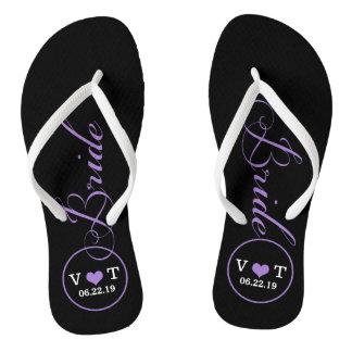 4d116aff2da1fd Personalized Bridal (purple) Flip Flops