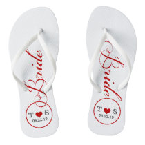 Personalized Bridal (red) Flip Flops