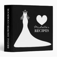 Personalized bridal shower cook book recipe binder