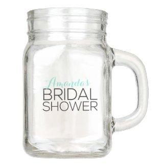 Personalized Bridal Shower Favor Mason Jar