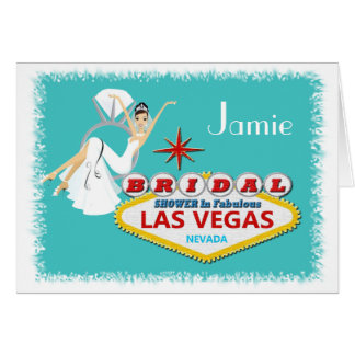 Personalized BRIDAL SHOWER Las Vegas Card