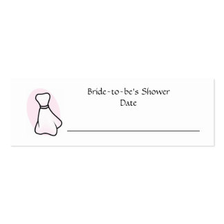 Personalized Bridal Shower Place Card Mini Business Card