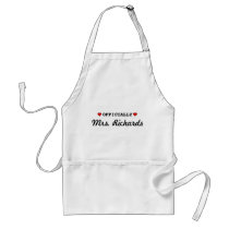 Personalized Bridal Wedding Adult Apron