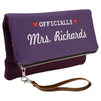 Personalized Bridal Wedding Clutch