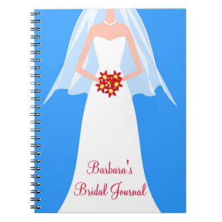 Personalized Bridal Wedding Journal Notebook