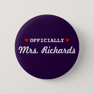 Personalized Bridal Wedding Pinback Button