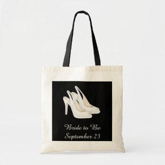 Personalized Bridal Wedding Shoe Travel Budget Tote Bag