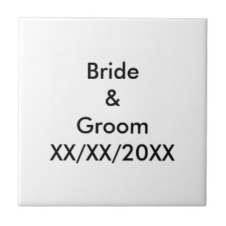Personalized Bride and Groom with Date Ceramic Tile