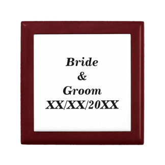 Personalized Bride and Groom with Date Gift Box