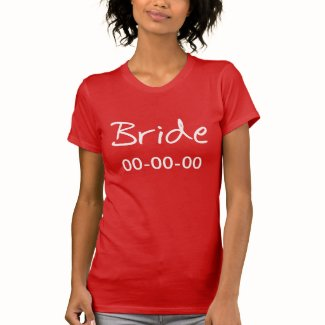 Personalized Bride Black T-shirt